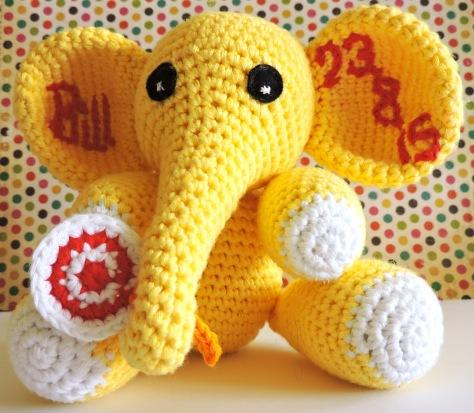 Personalised Crochet Elephant