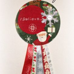 """I Believe"" Hanging Rosette by Stitching Pretty €10http://on.fb.me/1T9Osnx"