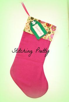 Stocking by Stitching Pretty €18. http://on.fb.me/1LD5LYn