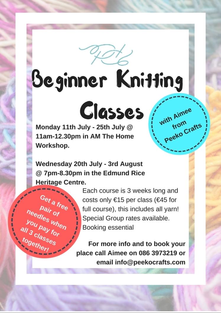 Beginner KnittingClasses