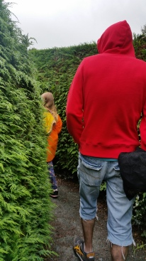 Saoirse leading the way through Greenan Maze